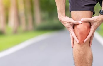 a man with knee pain